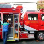 消防車への積み込み